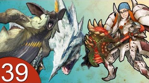 Monster Hunter 4 Nubcakes 39 - Zamtrios & Lagombi English commentary online gameplay