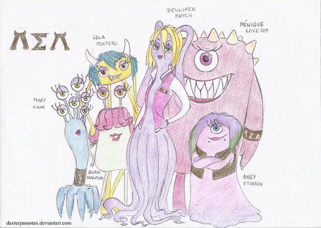 File:The Argma Slugma Argma (AEA) Girls (Jennifer, Gloria, Mary, Lola, Monique and Angy)+(Possible).jpg