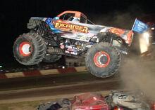 Excaliber Monster Truck flying
