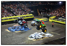 Airborne monster trucks by deltamu