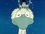 Moominpappa and Snow Dragon.