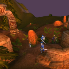 Exploring troll ruins in the Hinterlands.