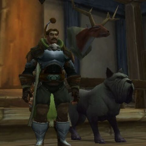 Ranger-Knight Reignsford with his hound, Tullius.