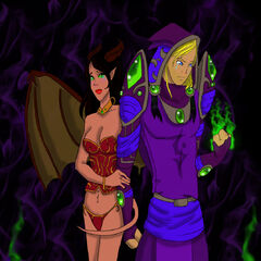 Cladriah and His Succubus by Rennali