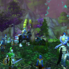 Leading Alliance forces in Ashenvale.