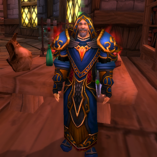 Tiral in his customary robes.
