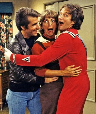 File:Mork and Mindy Special Henry Winkler Penny Marshall Robin Williams.JPG