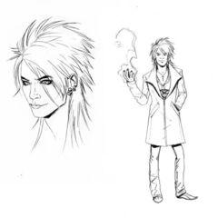 Design descartado do personagem Magnus