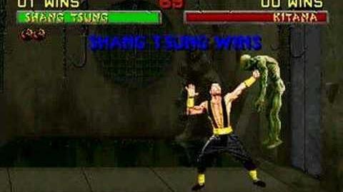 Mortal Kombat II Shang Tsung Soul Drain fatality