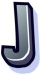 WallScrawl Alphabet - J