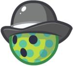 Green Polkadot Bowler Ball