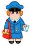 Cuddly Postwoman