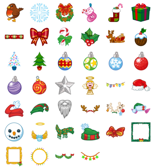 PopJam christmas stickers