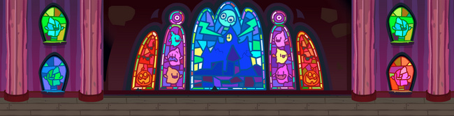 Ghosts stained glass
