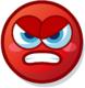 Profile mood angry