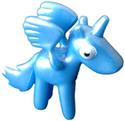 Angel figure pearl blue