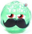 Mustachio figure christmas tree green