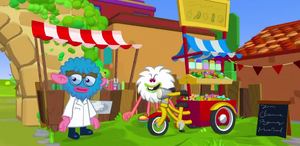 Seed Cart in Moshi Monsters- The Movie