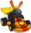 Moshi Karts helmet skeleton crew