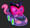 Moshi Karts moshlings neon Sooki-Yaki