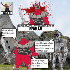Making significant progress after defeating Planeman, Redman finds himself at the ruins of a castle. He is then confronted by <a href=