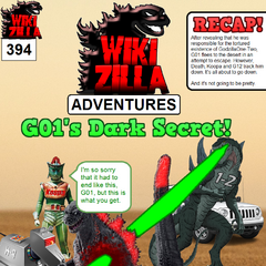 In this issue, G01 is killed after it is revealed that he is responsible for GodzillaOne-Two's tortured existence. Looks like he's not gonna be in the new comic!