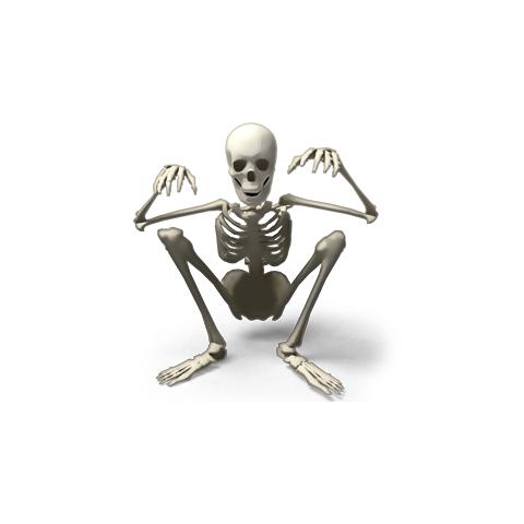 The only short Skele-Man, <a href=