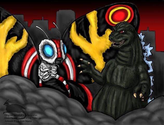 File:Godzilla and Mothra by kim3707m.jpg
