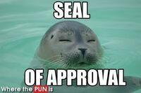 http://www.wherethepunis.com/seal-of-approva-seal-approval-puns-pun-499