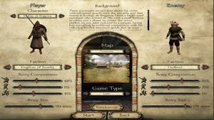 Custom Battle Setup Screen