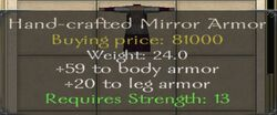 Hand-crafted Mirror Armor