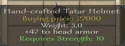 Hand-crafted Tatar Helmet