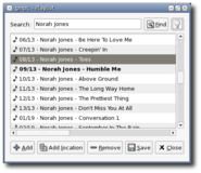 Playlist window2