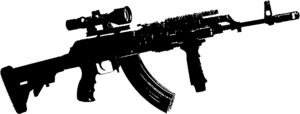Black machine gun