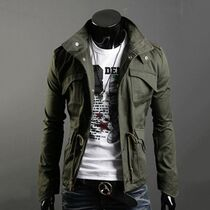 Military style jacket olive drab