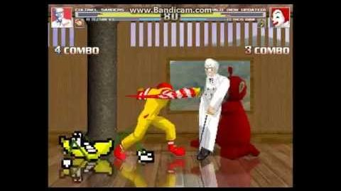 Mugen KFC and Po (Teletubbies) vs RonaldMcDonald and Dancing Banana