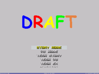 Draft Menu Screen