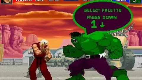 MUGEN Berserker Rage - Violent Ken vs Savage Hulk