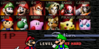 Super Smash Bros. Fighter Select Screen