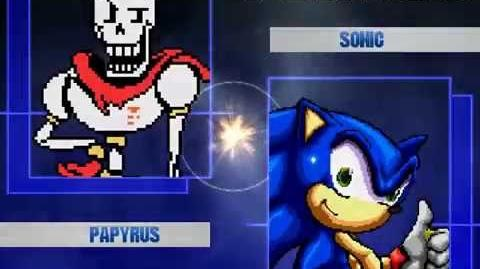 B MUGEN Sans And Papyrus vs Sonic and Tails