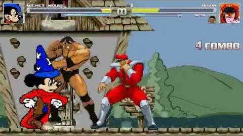 AN Mugen Request 92 Mickey Mouse VS Bison & Batista