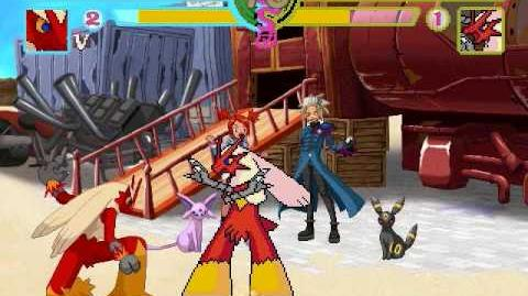 GMX MUGEN Team RedMoon Blaziken vs Blaziken(Claymizer)