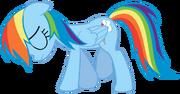 Slimeytoady-Sad Rainbow Dash Walking Vector