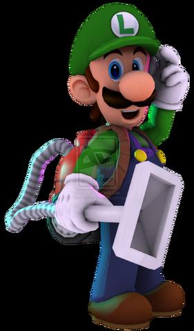 File:Luigi 3d render by ratchetmario-d5tnhiu.png