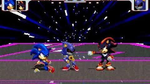 Sonic and Shadow vs Metal Sonic MUGEN Battle!!! (MUGENHUNTER)