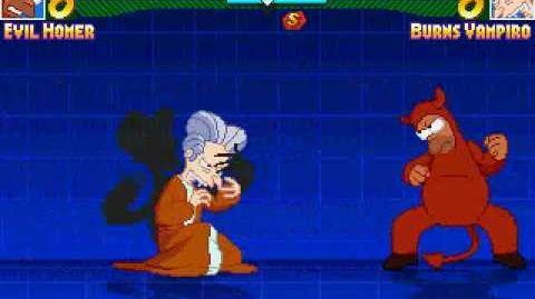 Evil Homer vs Vampire Burns with flanders