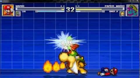 Mario and luigi vs paper mario and bowser jr