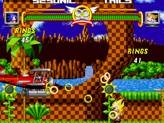 File:Super Sonic and Tails plane.png