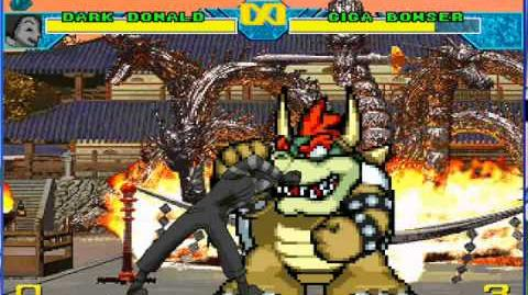 MUGEN- Dark Donald vs Giga Bowser