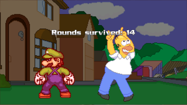 File:M.U.G.E.N Team Survival Record with Super Luigi and Homer Simpson.png